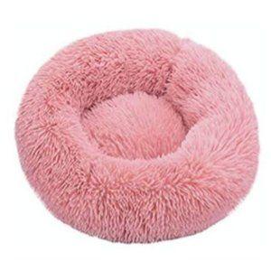 Pink Faux Fur Pet Bed